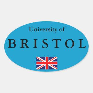 Pegatina oval europeo de Bristol University*