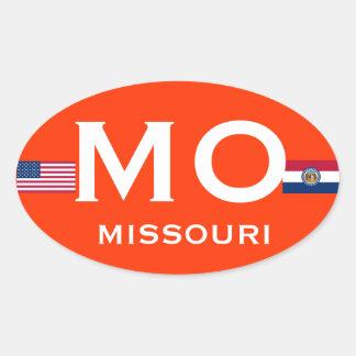 Pegatina oval europeo de Missouri*