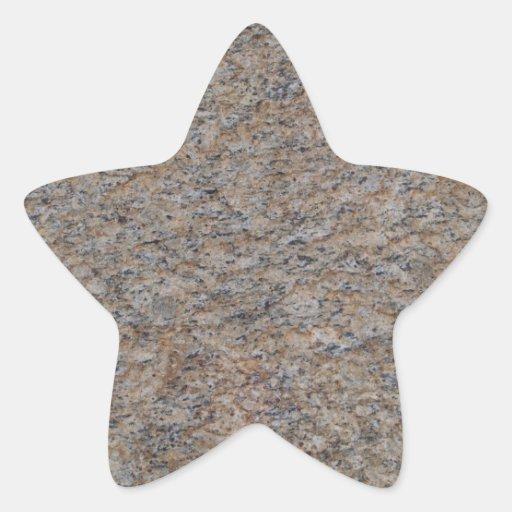 Pegatina oxidado de la estrella del mármol de