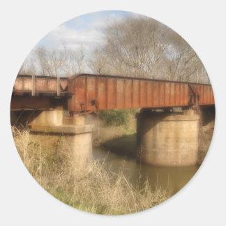 pegatina oxidado del puente del ferrocarril