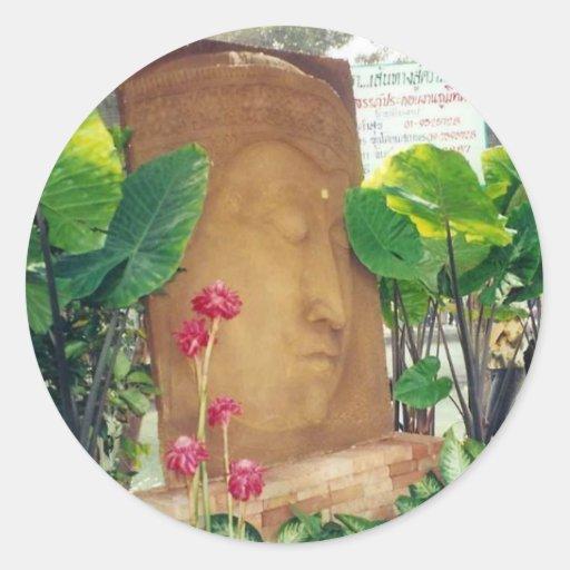 Pegatina pacífico de Buda