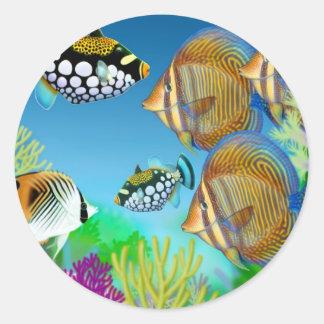 Pegatina pacífico de los pescados del filón de