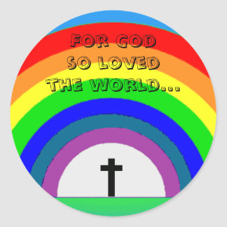 Pegatina: Para dios tan amado el mundo… Pegatina Redonda