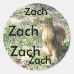 Pegatina para el nombre ZACH