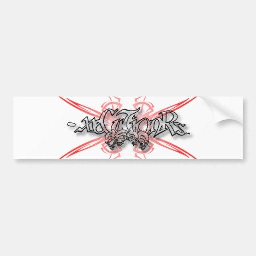 - pegatina para el parachoques 001 de x - cráneos  etiqueta de parachoque
