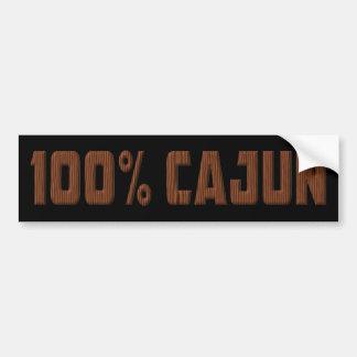Pegatina para el parachoques 100% de Cajun Pegatina Para Auto