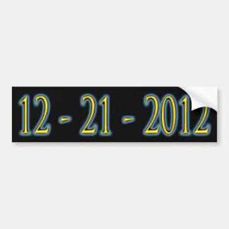pegatina para el parachoques 12 - 21 -2012 etiqueta de parachoque