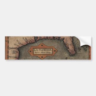 Pegatina para el parachoques 1584 del mapa de la F Etiqueta De Parachoque