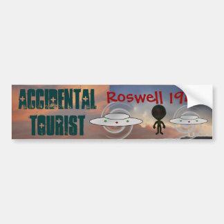 Pegatina para el parachoques 1947 de Roswell Pegatina Para Auto