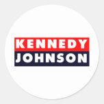 Pegatina para el parachoques 1960 de Kennedy Johns