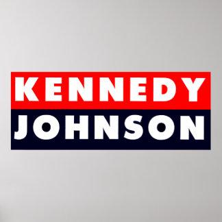 Pegatina para el parachoques 1960 de Kennedy Johns Póster