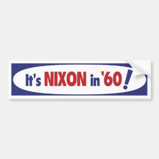 Pegatina para el parachoques 1960 de Nixon Pegatina Para Auto