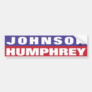 Pegatina para el parachoques 1964 de Johnson Humph Pegatina Para Auto