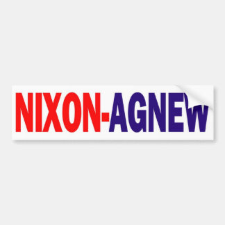 Pegatina para el parachoques 1968 de Nixon Agnew Pegatina De Parachoque