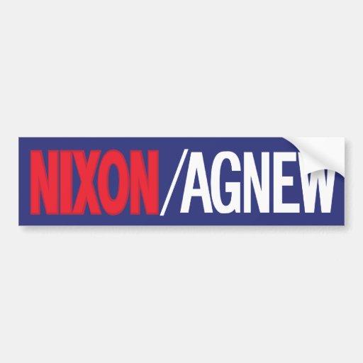 Pegatina para el parachoques 1968 de Nixon Pegatina De Parachoque