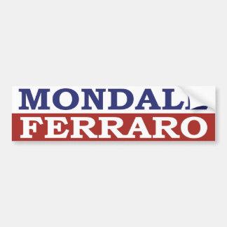 Pegatina para el parachoques 1984 de Mondale Pegatina De Parachoque