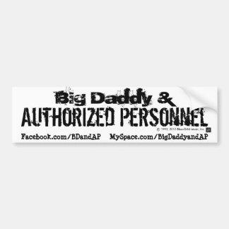 Pegatina para el parachoques 1 - Logotipo de BD&AP Pegatina Para Auto