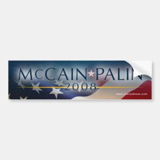 Pegatina para el parachoques 2008 de McCain Palin Pegatina De Parachoque