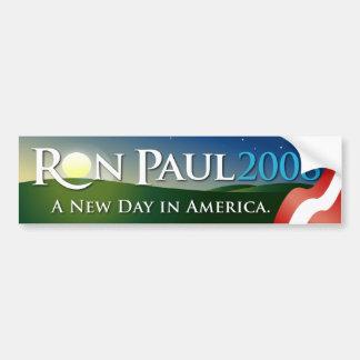 Pegatina para el parachoques 2008 de Ron Paul Pegatina Para Auto