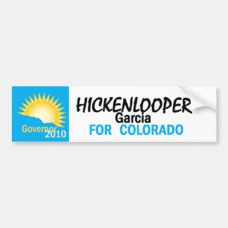 Pegatina para el parachoques 2010 de Hickenlooper  Etiqueta De Parachoque