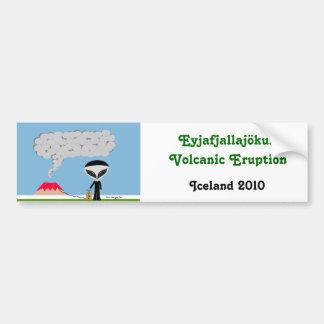 Pegatina para el parachoques 2010 del volcán de Is Pegatina Para Auto