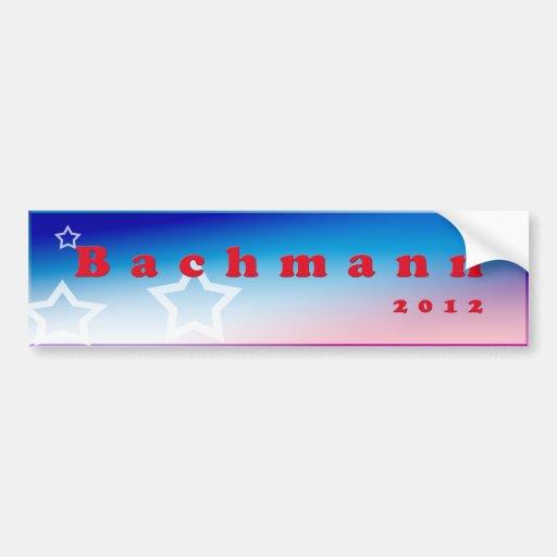 Pegatina para el parachoques 2012 de Bachmann Pegatina De Parachoque