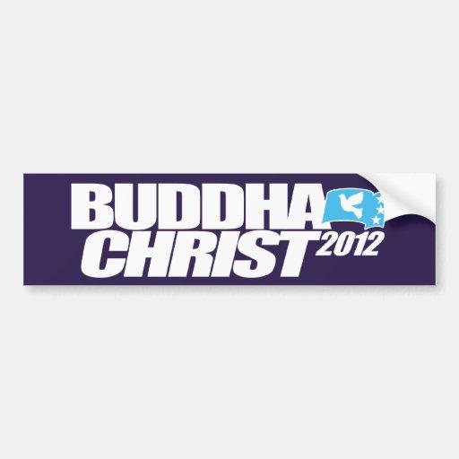 Pegatina para el parachoques 2012 de Buda Cristo Pegatina Para Auto