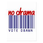 Pegatina para el parachoques 2012 de la elección d postal