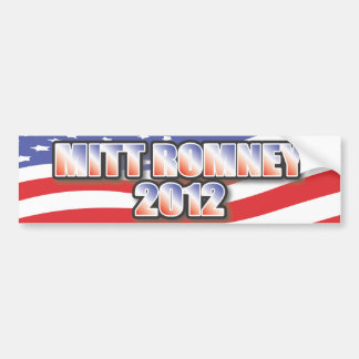 Pegatina para el parachoques 2012 de Mitt Romney Pegatina Para Auto