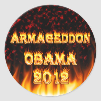 pegatina para el parachoques 2012 de obama del arm