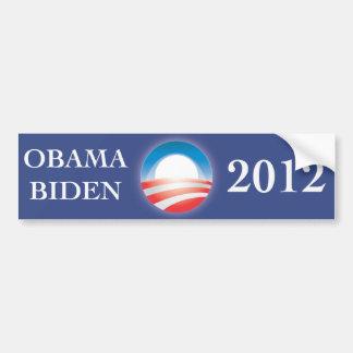 Pegatina para el parachoques 2012 de Obama y de Bi Pegatina Para Auto