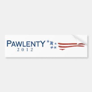 Pegatina para el parachoques 2012 de Pawlenty Etiqueta De Parachoque