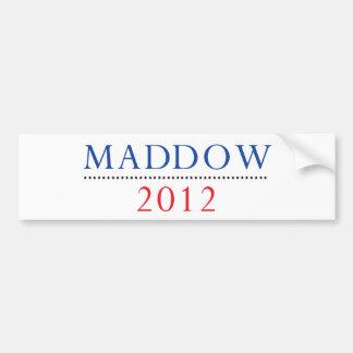 Pegatina para el parachoques 2012 de Raquel Maddow Pegatina Para Auto