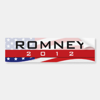 Pegatina para el parachoques 2012 de Romney Etiqueta De Parachoque
