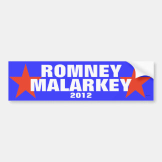 Pegatina para el parachoques 2012 de Romney Malark Pegatina Para Auto