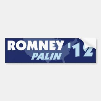 Pegatina para el parachoques 2012 de Romney Palin Pegatina Para Auto