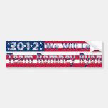 Pegatina para el parachoques 2012 de Romney Ryan Pegatina De Parachoque
