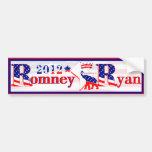 Pegatina para el parachoques 2012 de Romney Ryan d Pegatina De Parachoque