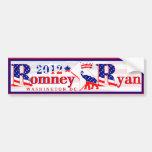 Pegatina para el parachoques 2012 de Romney Ryan d Etiqueta De Parachoque