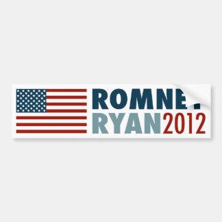 Pegatina para el parachoques 2012 de Romney-Ryan d Pegatina Para Auto