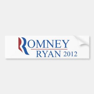 Pegatina para el parachoques 2012 de Romney Ryan Pegatina Para Auto