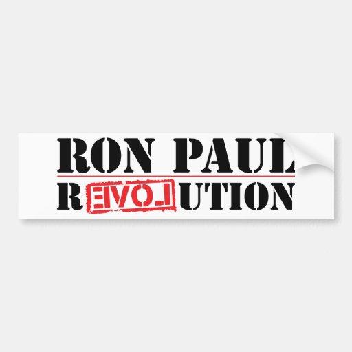 Pegatina para el parachoques 2012 de Ron Paul Pegatina De Parachoque