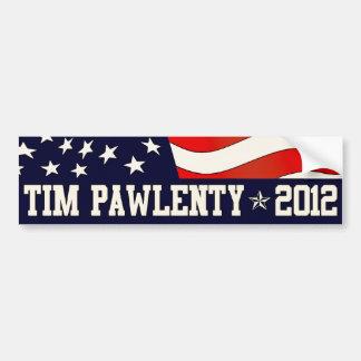 Pegatina para el parachoques 2012 de Tim Pawlenty Pegatina Para Auto