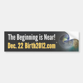 Pegatina para el parachoques 2012 del nacimiento pegatina para auto