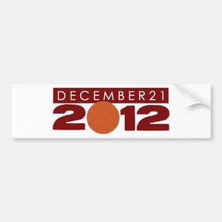 """Pegatina para el parachoques 2012 el """"21 de diciem etiqueta de parachoque"""