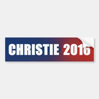 Pegatina para el parachoques 2016 de Chris Christi Etiqueta De Parachoque