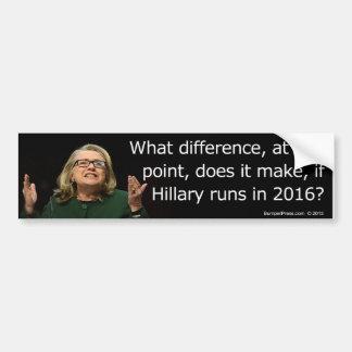 Pegatina para el parachoques 2016 de Hillary Clint Pegatina Para Auto