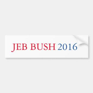 Pegatina para el parachoques 2016 de Jeb Bush Pegatina Para Auto