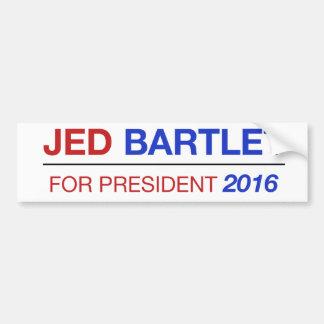 ¡Pegatina para el parachoques 2016 de JED BARTLET! Pegatina Para Auto
