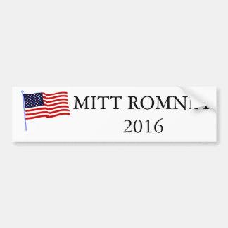 Pegatina para el parachoques 2016 de Mitt Romney Pegatina Para Auto